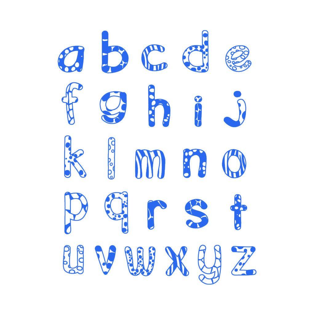 Alfabet Kleine Letters Stempels Aladine