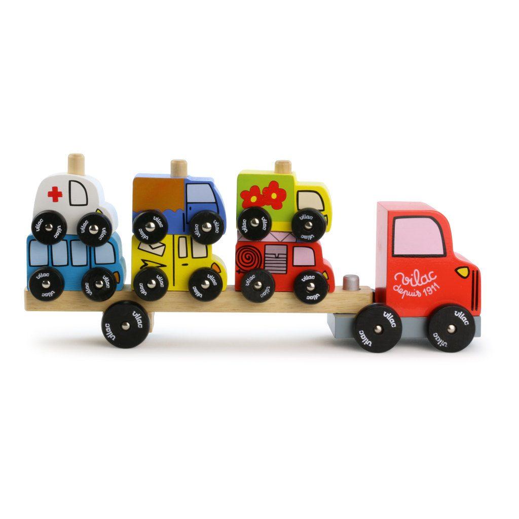 Auto Op Vrachtwagen Stapelen