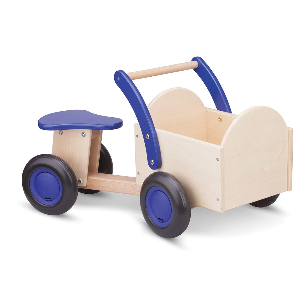 Bakfiets Blank Blauw