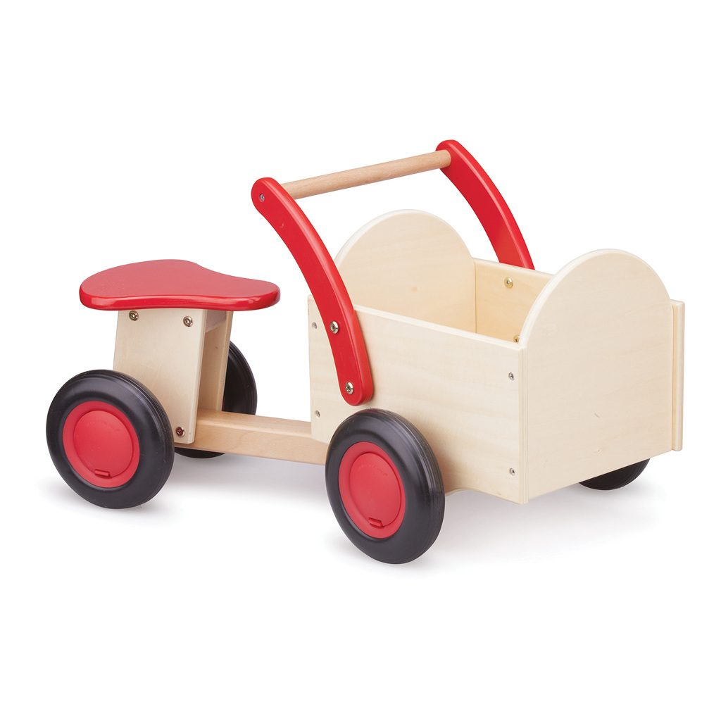Bakfiets Blank Rood