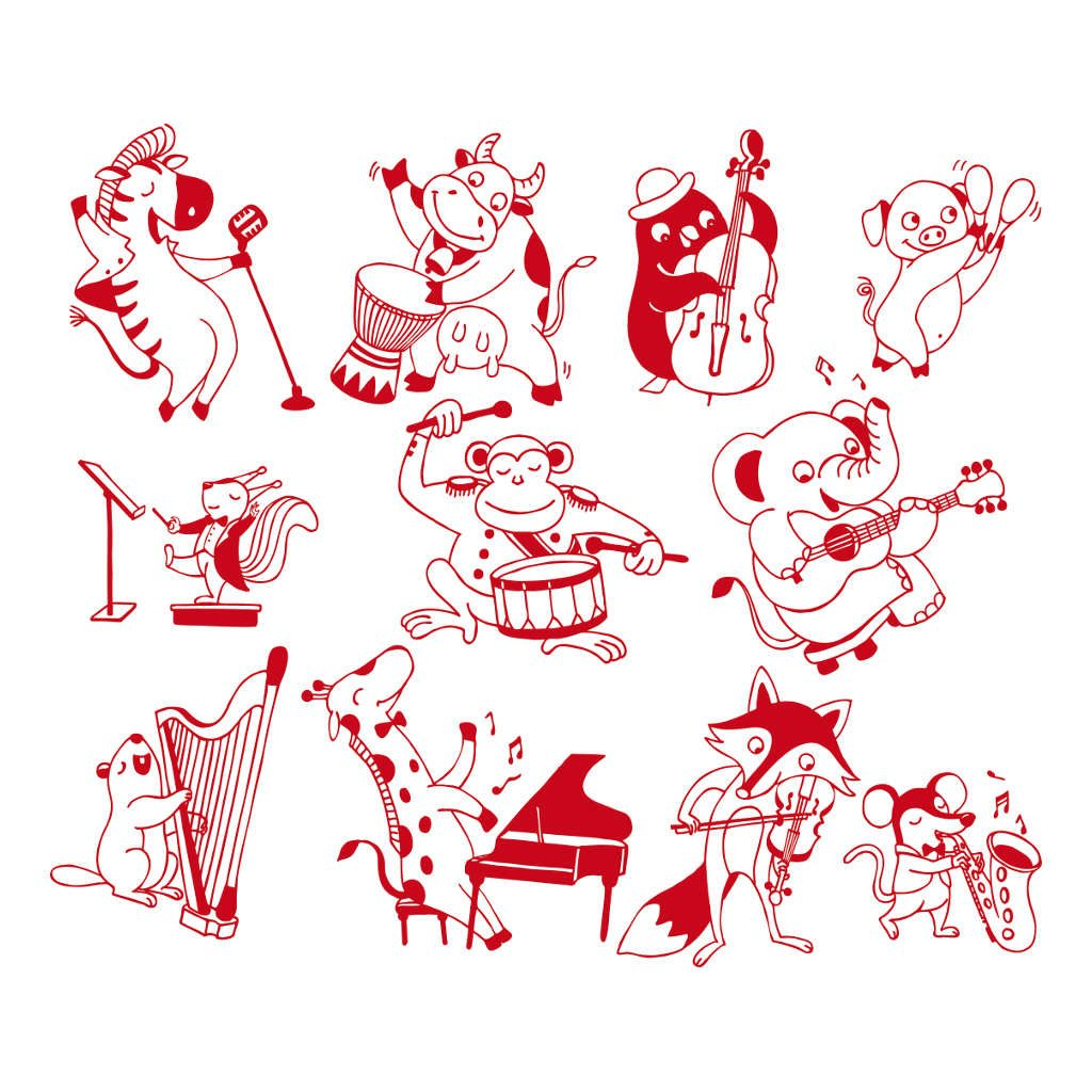 Dieren Muziek Stempels Aladine
