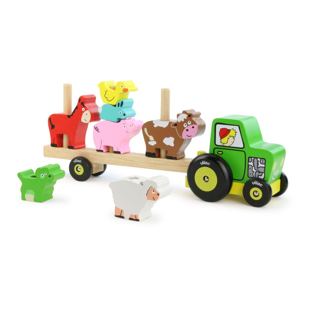 Dieren Op Tractor Stapelen