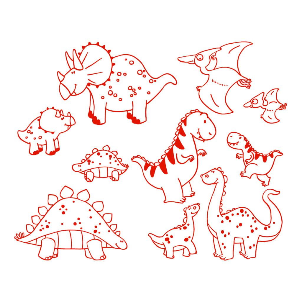 Dinosaurus Stempels Aladine