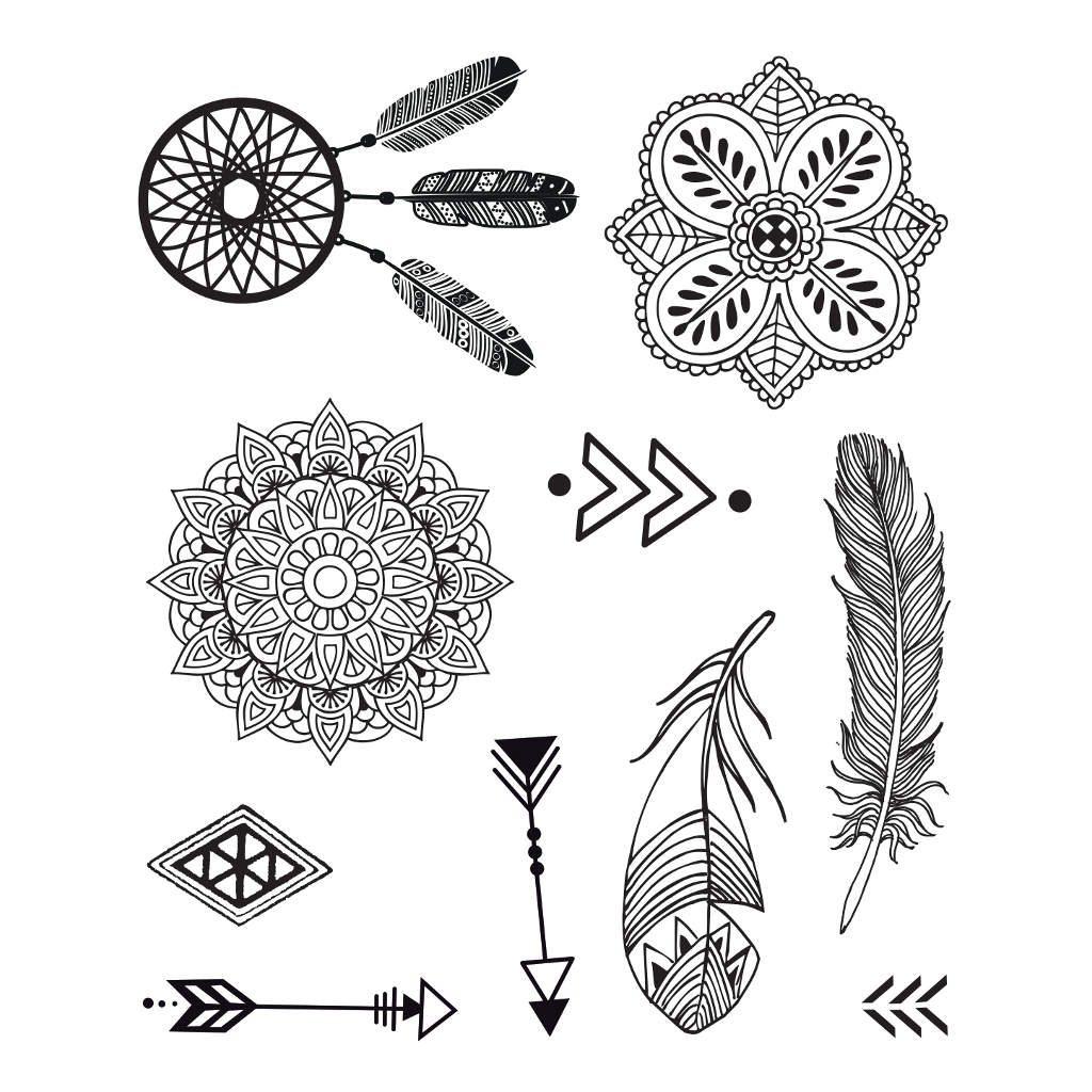 Etnisch Tattoo Stempelen