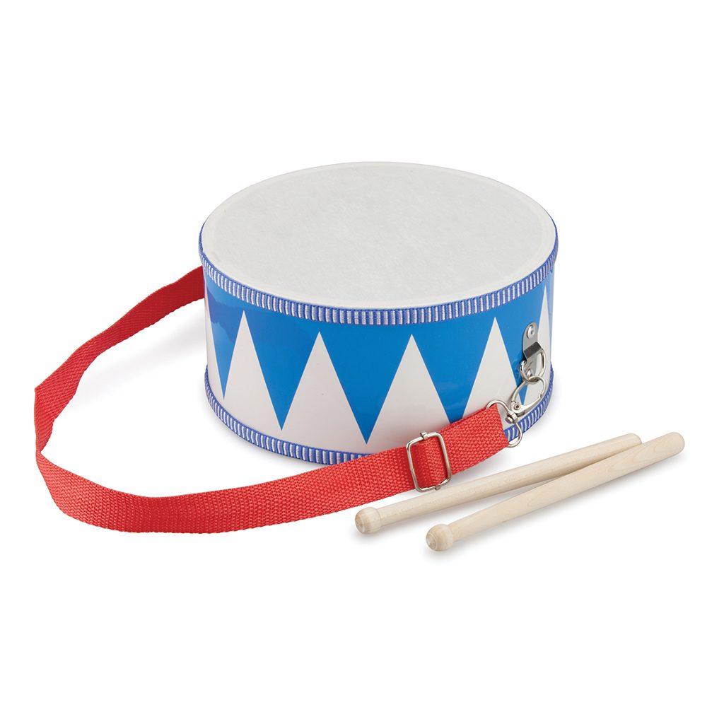 Fanfare Trommeltje Blauw Wit