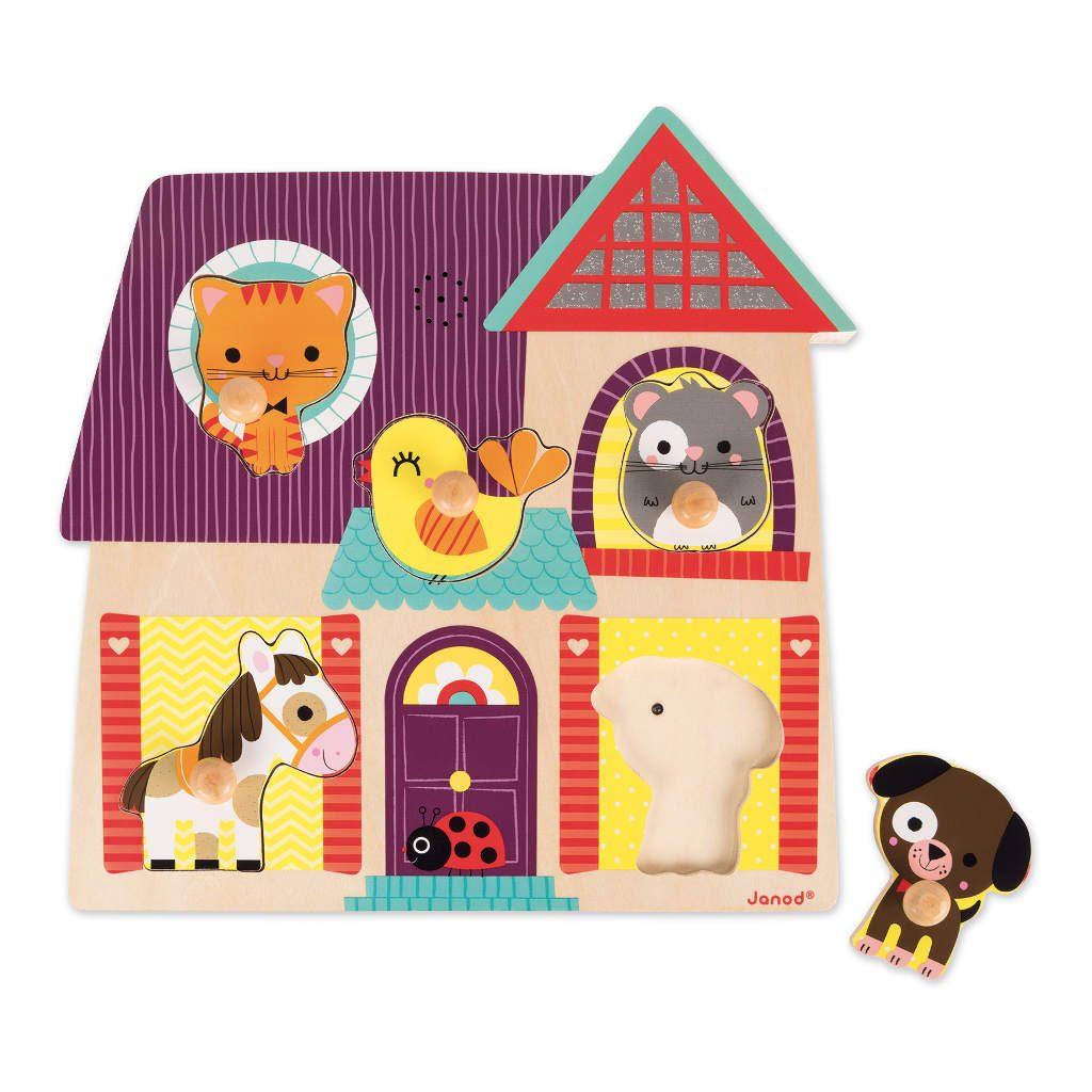 Huisdieren Puzzel Met Muziek Janod
