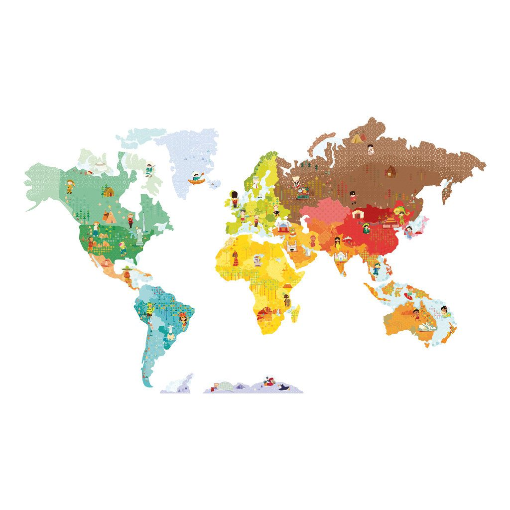 Janod Muursticker Wereld