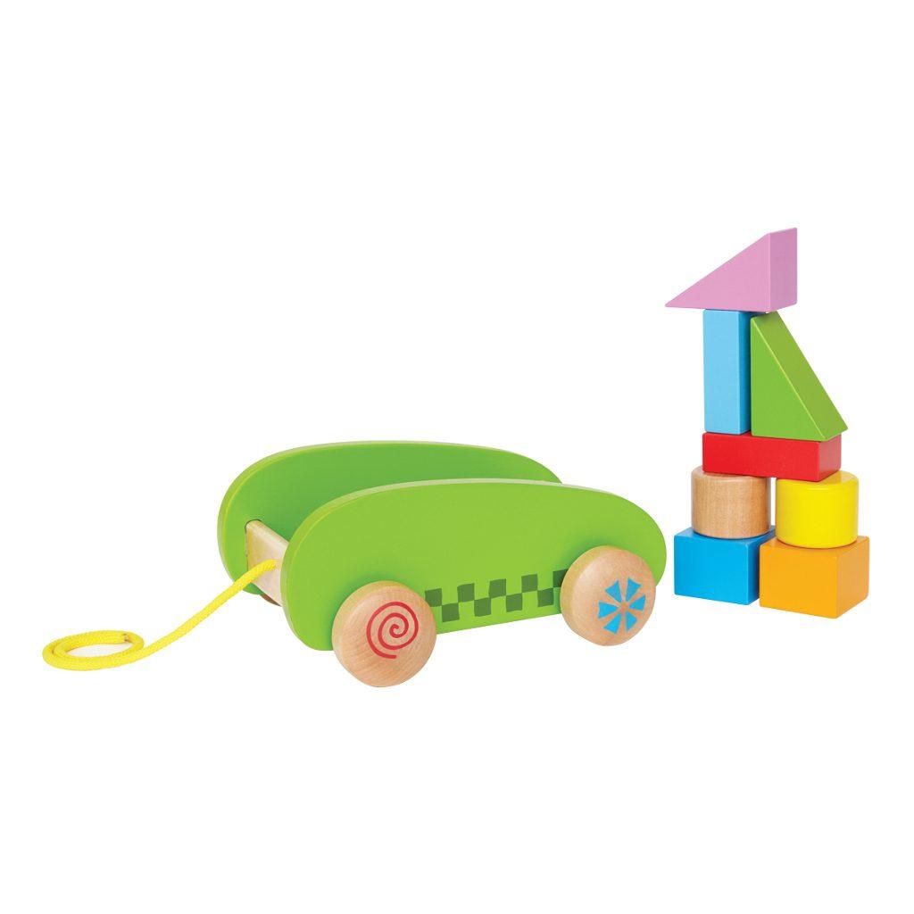 Kleine Blokkenwagen Hape