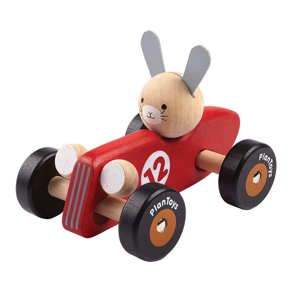 Konijn Racecar Plan Toys