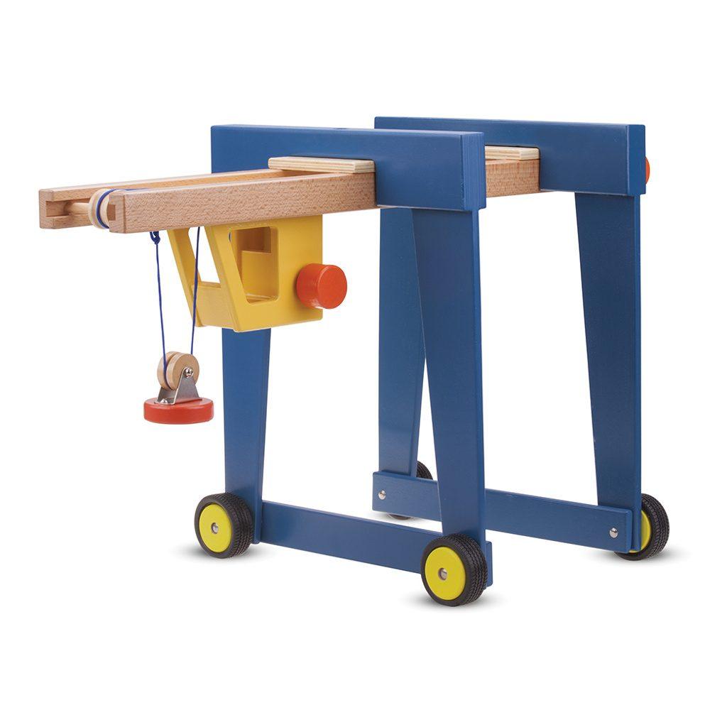 New Classic Toys Containerkraan Op Wielen