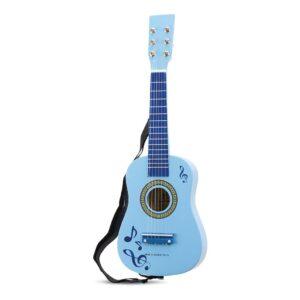 New Classic Toys Gitaar Blauw Met Muziektekens