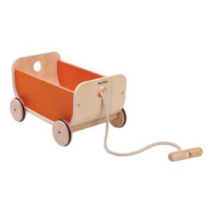 Oranje Trekwagentje Plan Toys