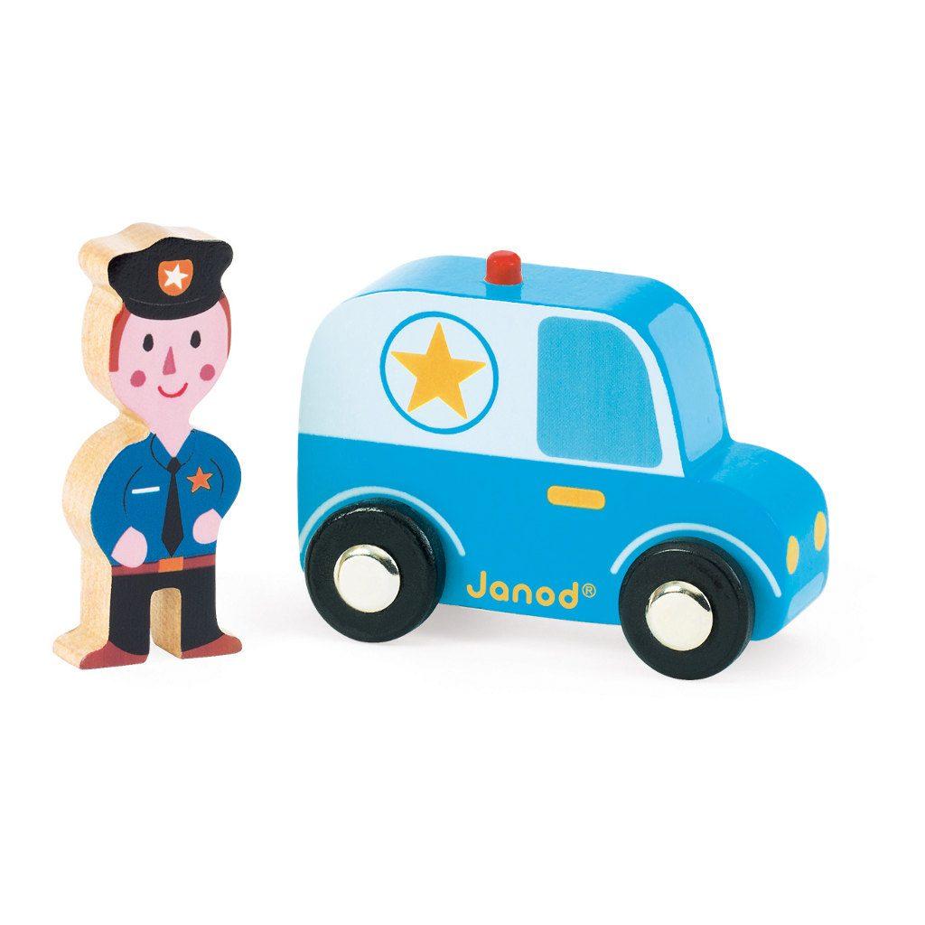Politie Auto En Agent Janod