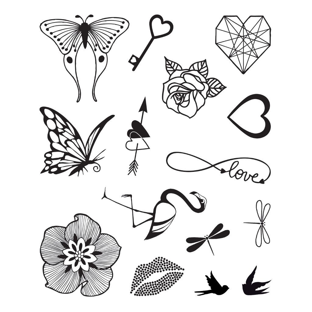 Romantiek Tattoo Stempelen
