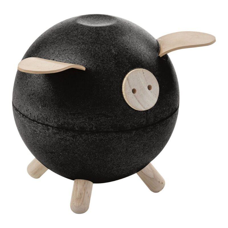Spaarpot Piggy Bank Zwart Plan Toys