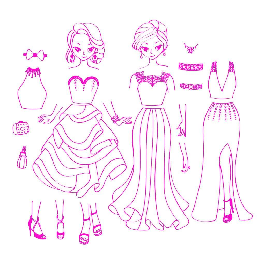 Stempels City Chic Girl Aankleden