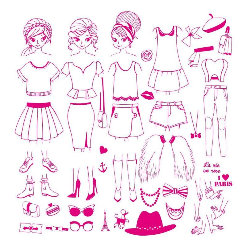 Stempels City Girl Aankleden