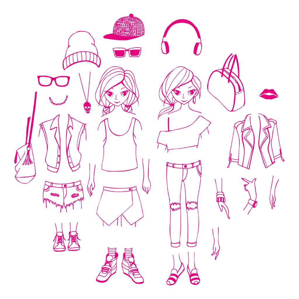 Stempels City Street Girl Aankleden