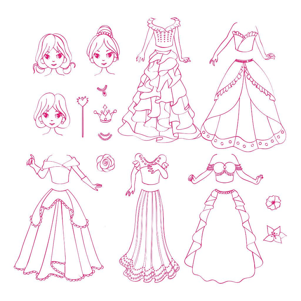 Stempels Prinses Aankleden