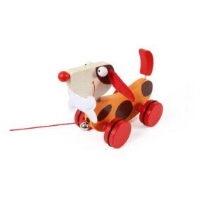 Trekfiguur Grote Hond Rood Oscar