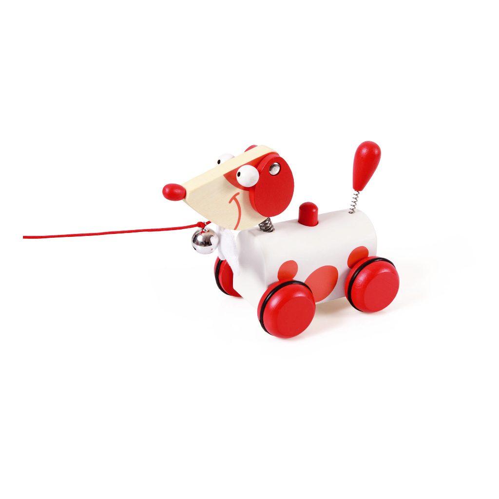 Trekfiguur Kleine Hond Rood Jack
