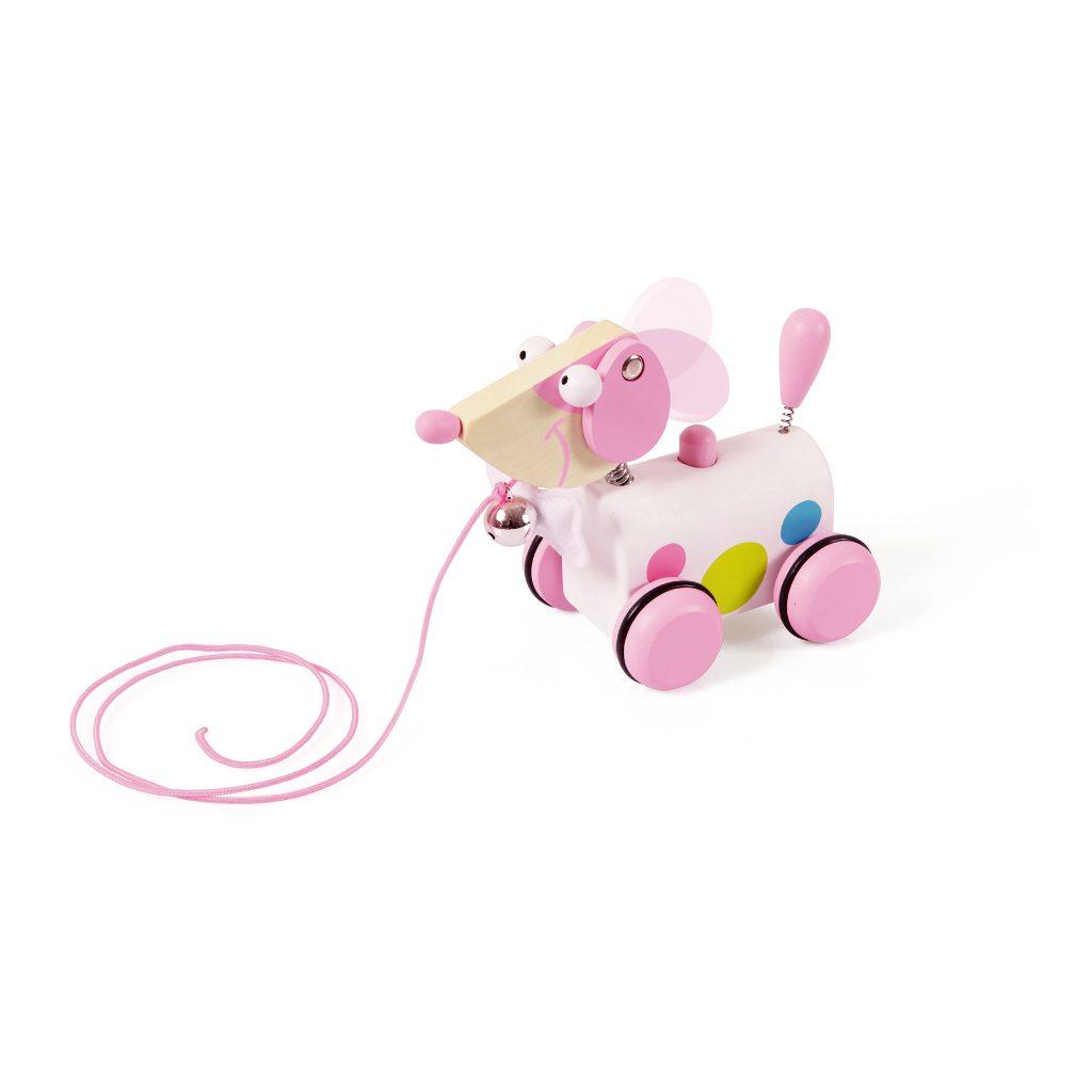 Trekfiguur Kleine Hond Roze Ella