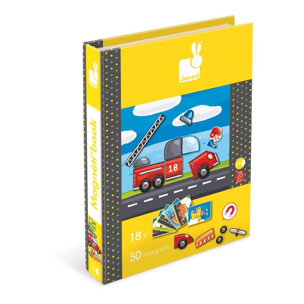 Voertuigen Magneetboek Janod