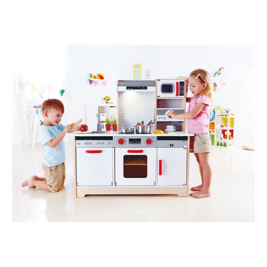Alles-In-1 Keuken Hape Speelgoed Mega Groot Veel Speel Plezier Peuter Kleuter Hape-E3145