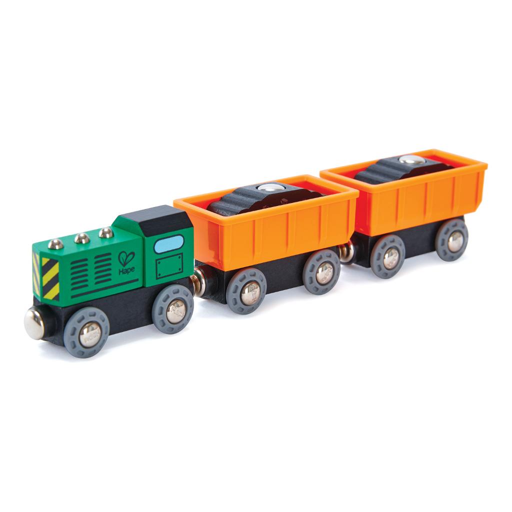 Diesel Vrachttreintje Railway Hape Speelgoed Hape-E3718