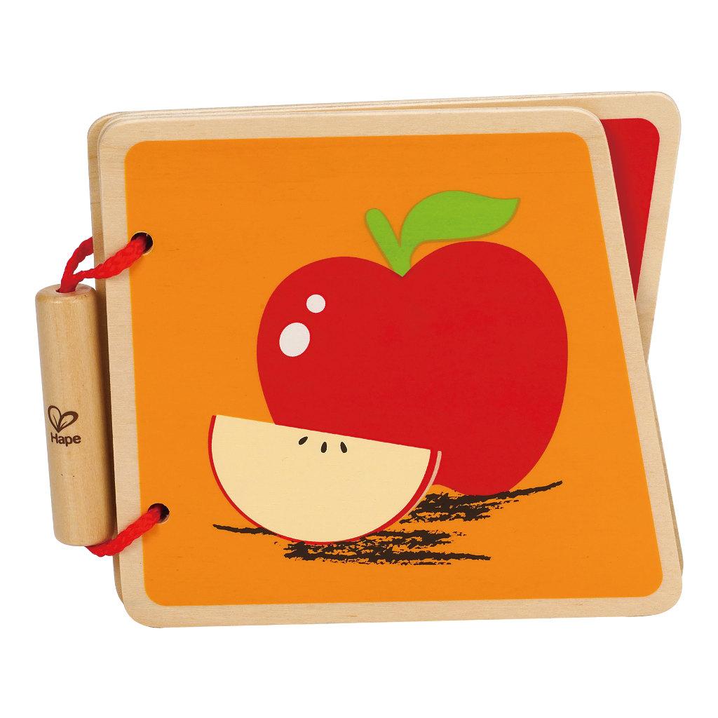 Fruit Baby Boekje Hout Eerste Boekje Hape Speelgoed Hape-E0039