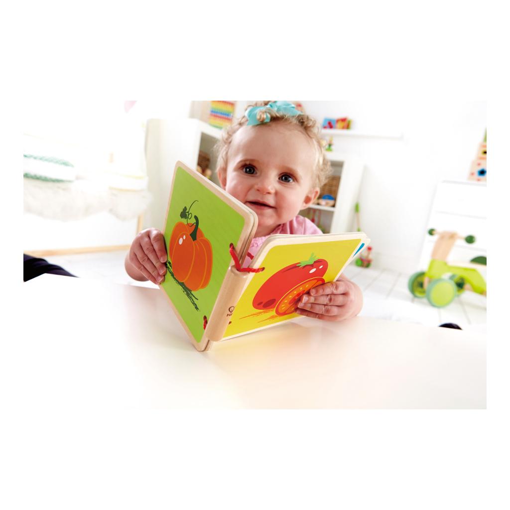 Fruit Baby Boekje Kindje Leest Hout Hape Speelgoed Hape-E0039
