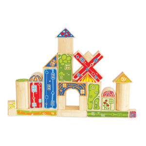 Grote Lichte Bamboe Blokken Hape Speelgoed Hape-E5526