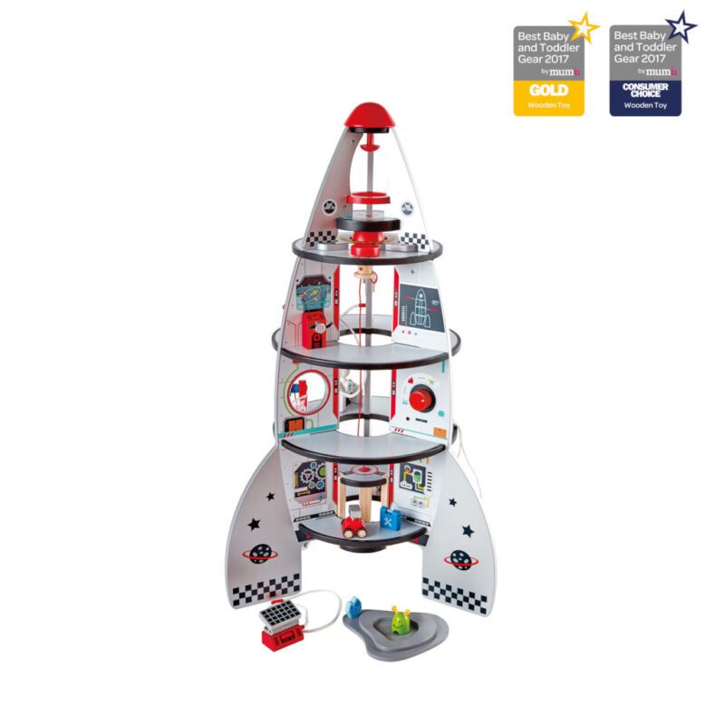 Hape Raket Ruimteschip Vier Etages Hape Awards hape-e3021 1024x1024