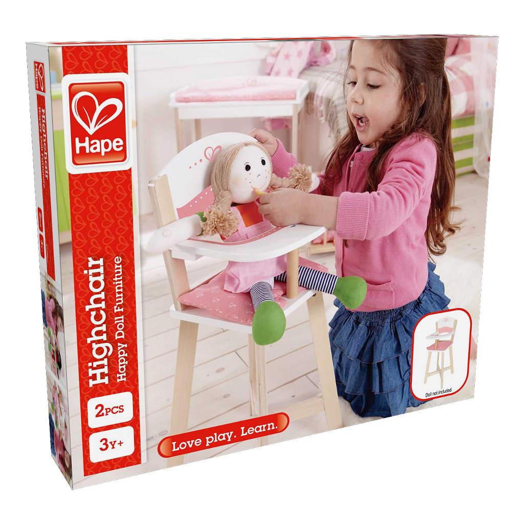 Hoge Kinderstoel Hape Speelgoed Doos Verpakking Hape-E3600