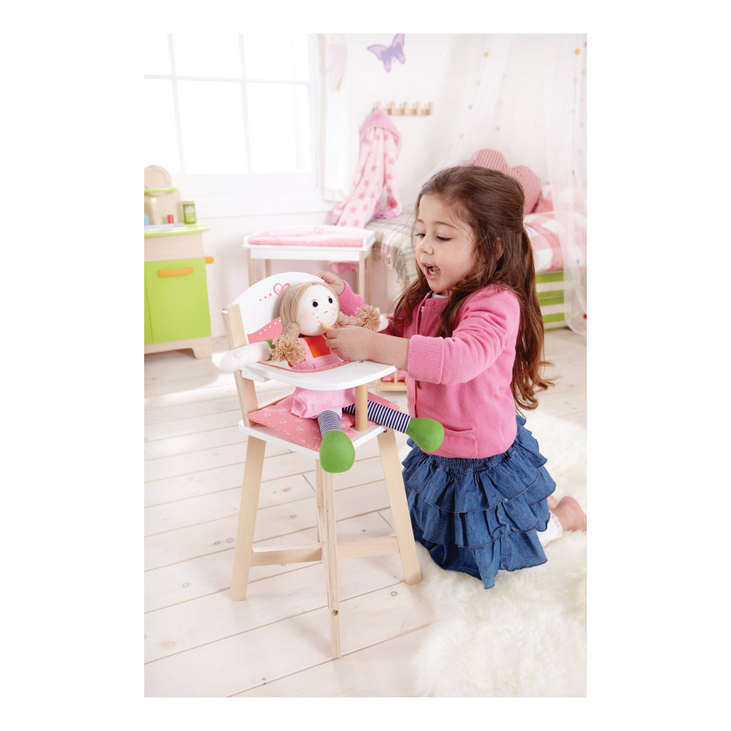 Hoge Kinderstoel Hape Speelgoed Poppen Eetstoel Hape-E3600