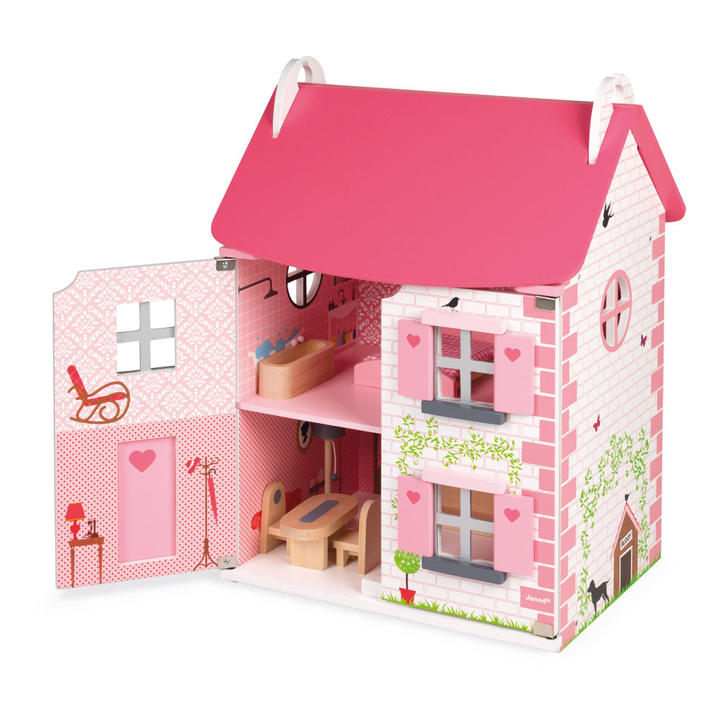 Janod Poppenhuis Mademoiselle Inclusief Meubels jano-11.6581
