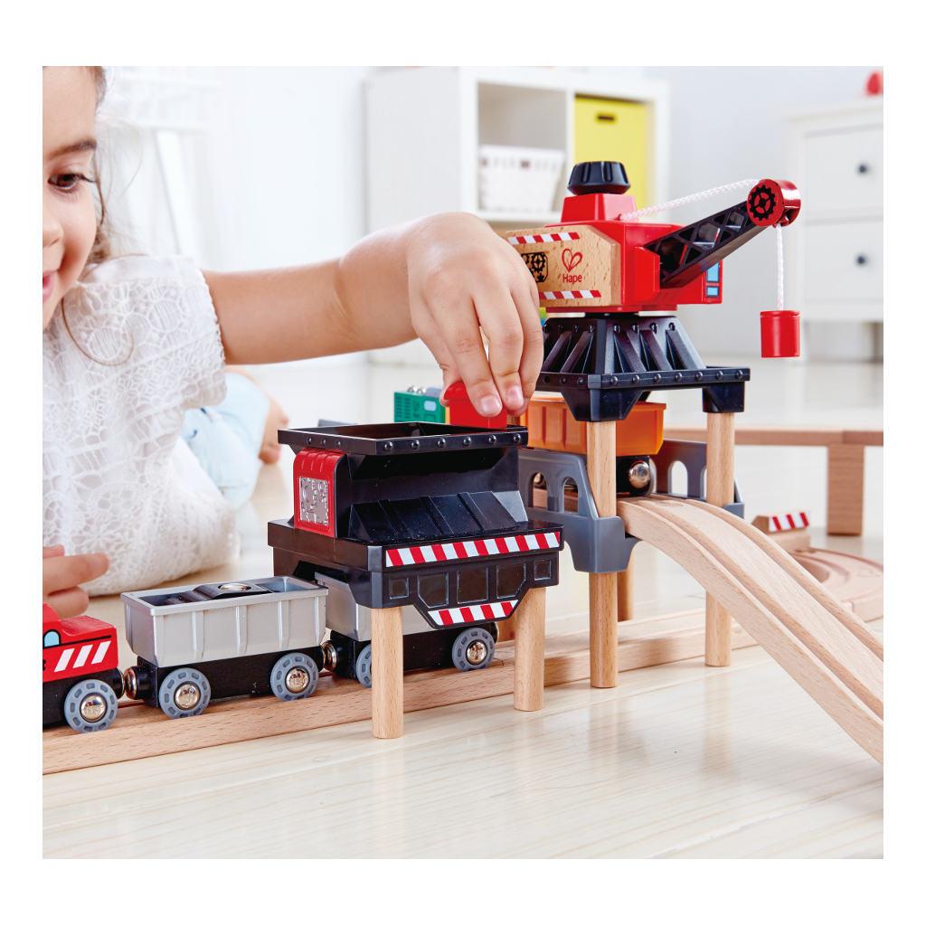 Lift & Load Mijn set Railway Hape Speelgoed Mogelijkheden Uitbreiding Hape-E3752