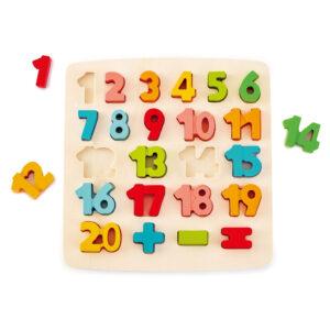 Match Nummer Puzzel 123 Rekenen Kleurtjes hape-e1550