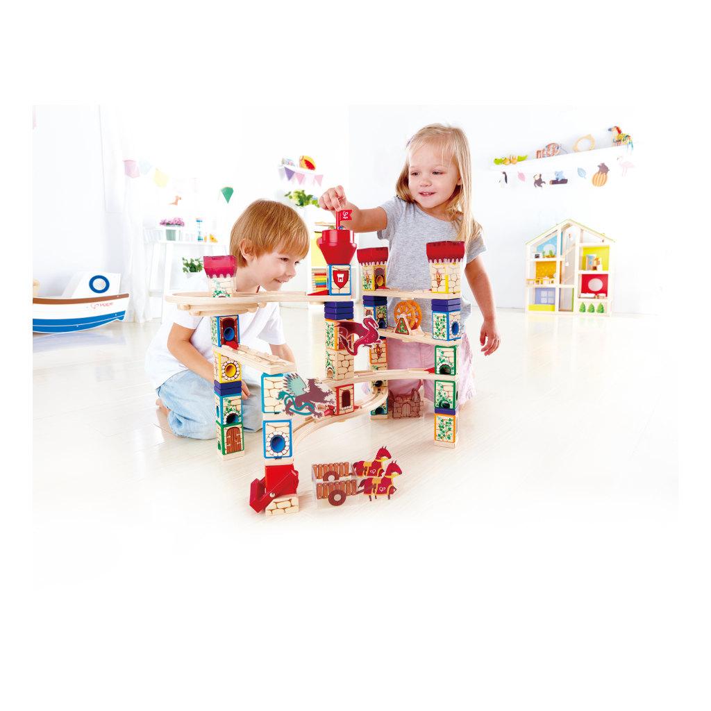 Middeleeuws Knikkerbaan Quadrilla Hape Speelgoed Uitbreiding Knikkers Hape-E6018