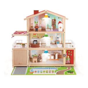 Poppen Familie Herenhuis Hape Speelgoed Hape-E3405
