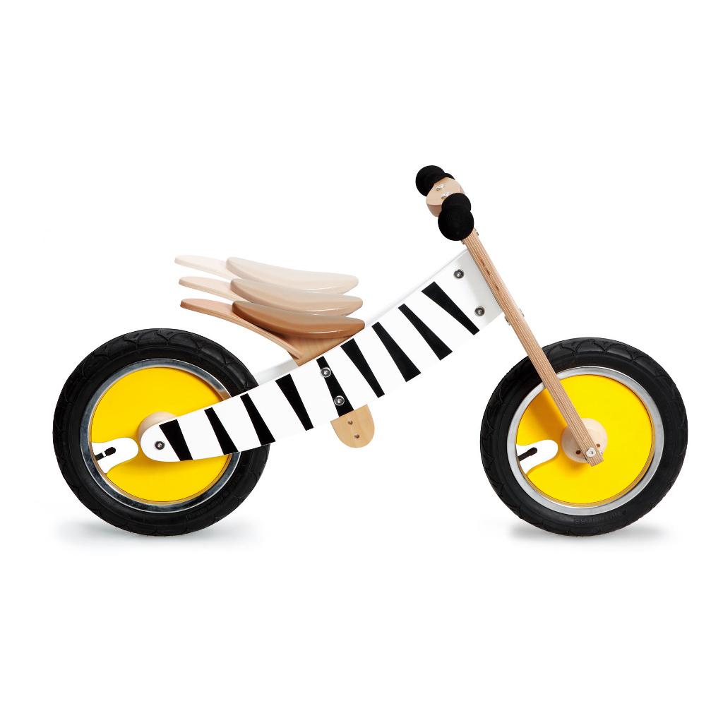 Scratch Loopfiets Zebra Print Stoer Geel Zwart Wit Verstelbaar scra-6181438