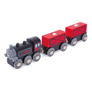 Stoom Vrachttreintje Railway Hape Speelgoed Hape-E3717
