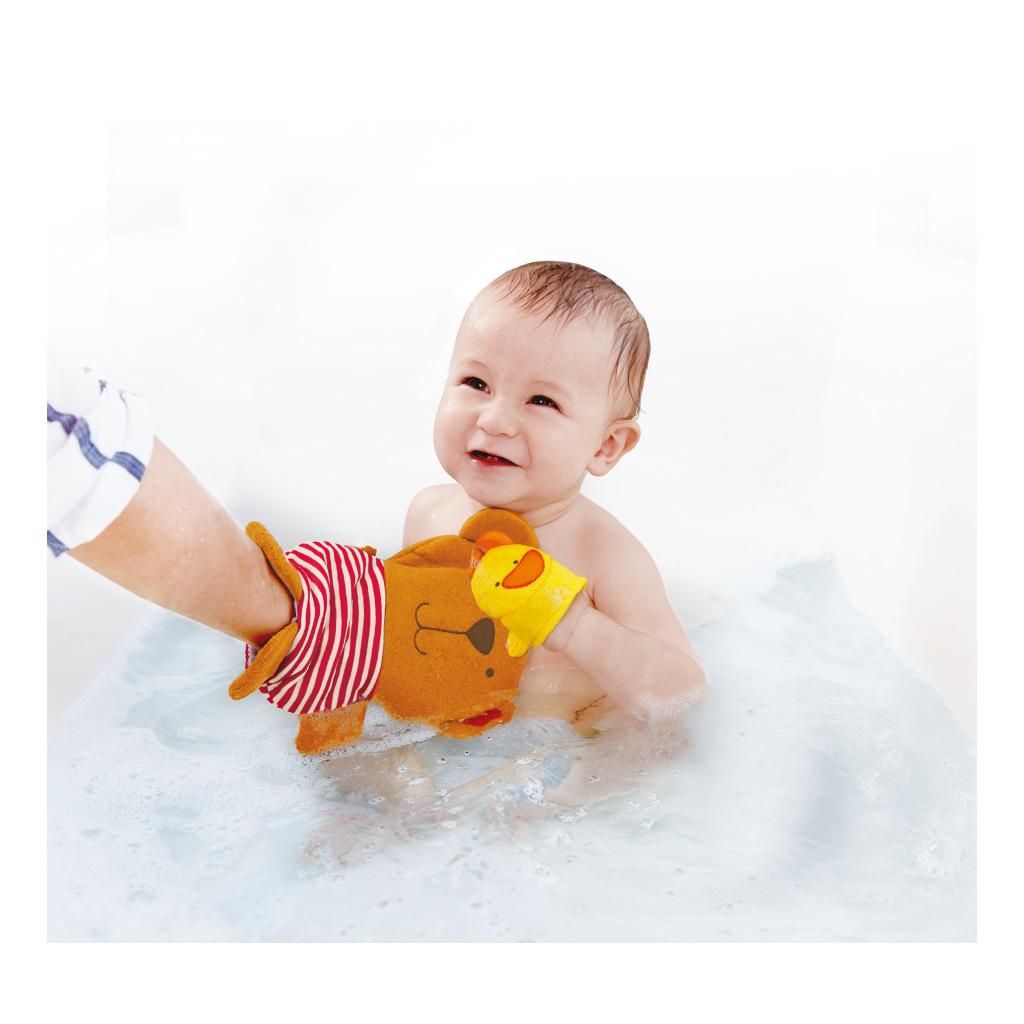 Teddy En Duck Washandje Wassen Bad Leuk Hape Speelgoed Hape-E0200