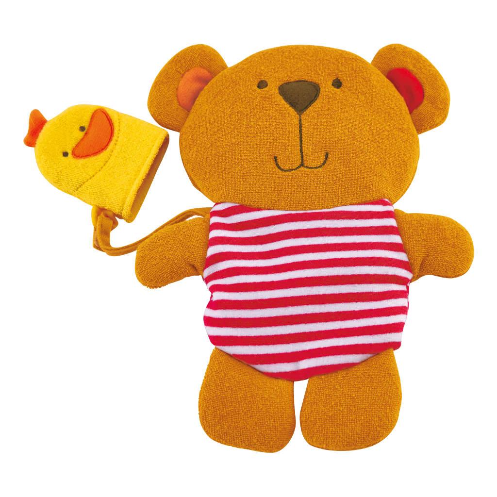 Teddy En Duck Washandje Zacht Lief Hape Speelgoed Hape-E0200