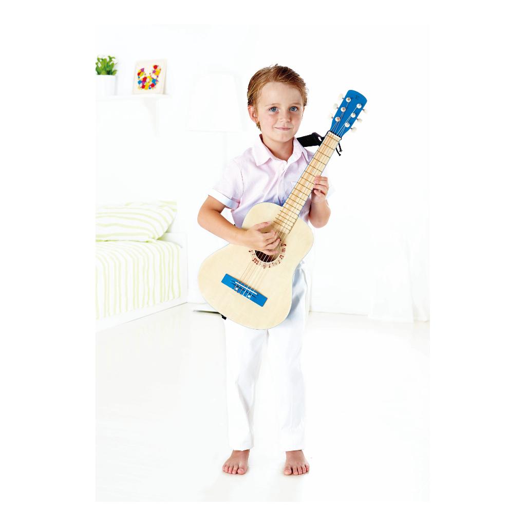 Vibrant Blue Guitar Hape Speelgoed Kleuter Gitaar Hape-E0326