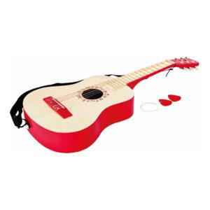 Vibrant Red Guitar Hape Speelgoed Hape-E0325