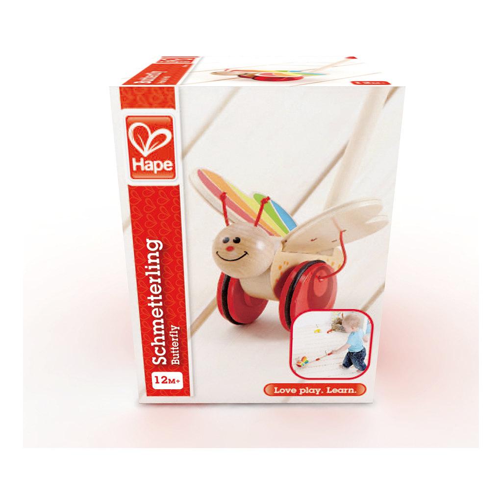 Vlinder Duwstok Hape Speelgoed Doos Verpakking Hape-E0340