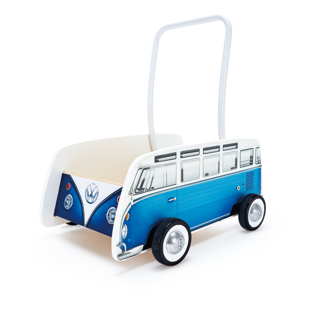 Vw Bus Blauw Loopwagen Hape Speelgoed Hape-E0381