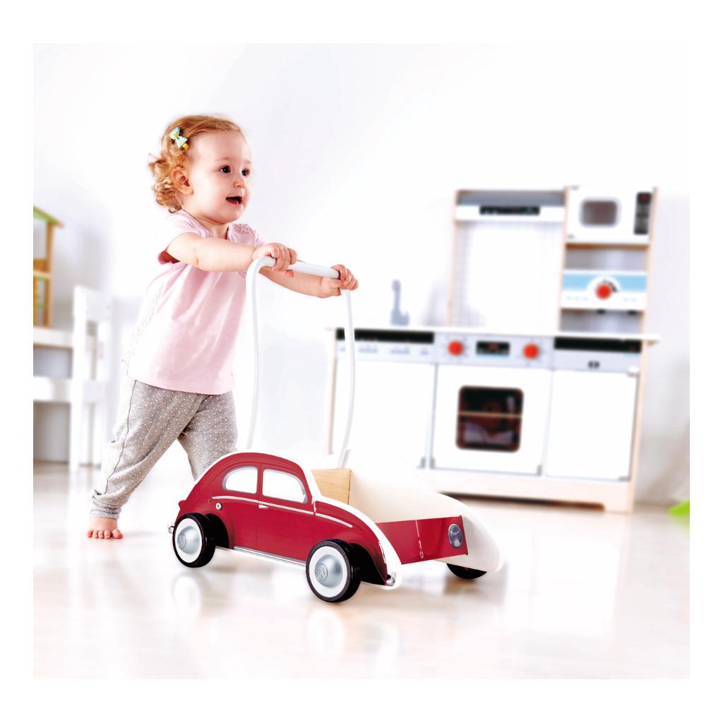 Vw Kever Rood Loopwagen Volkswagen Met Kind Hape Speelgoed Hape-E0380