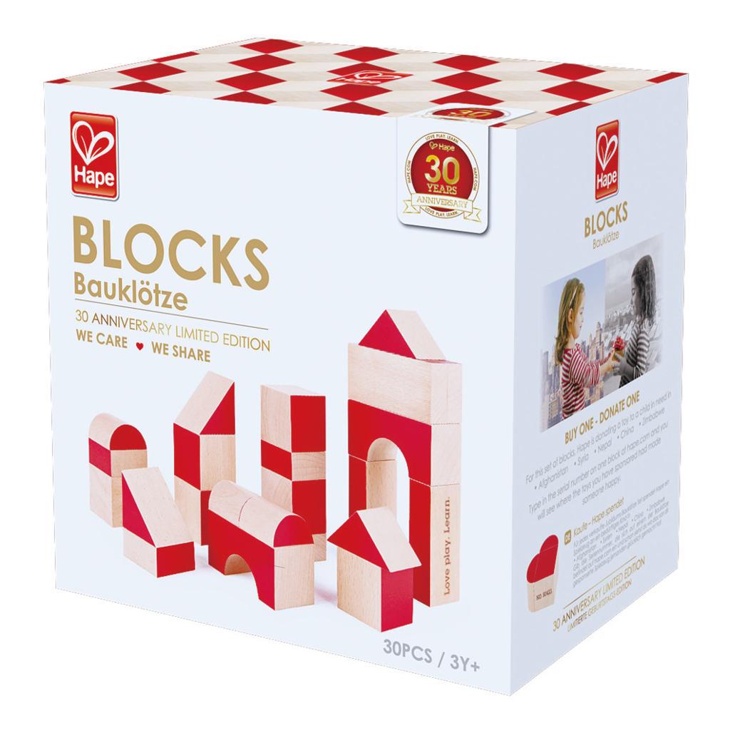 We Care We Share Blokken Hape Speelgoed Doos Verpakking Bouwblokken Hape-E0439